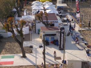l'impianto e il bar Riccione Beach Arena